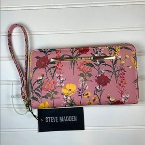 Steve Madden Blush Mult Zip around wallet
